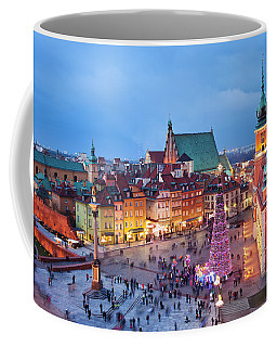 Old Town In Warsaw At Night Coffee Mug