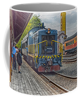 Coffee Mug featuring the photograph Old Town Sacramento Railroad by Jim Thompson