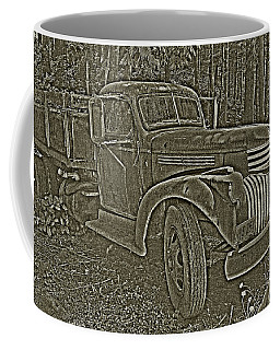 Coffee Mug featuring the photograph Old Truck In Sepia by Betty Depee