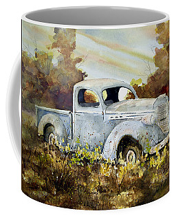 Coffee Mug featuring the painting Old Truck by Sam Sidders