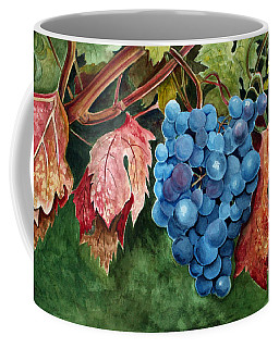 Coffee Mug featuring the painting Old Vine Zinfandel by Debbie Hart