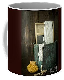 Old Washboard Laundry Days Coffee Mug by Edward Fielding