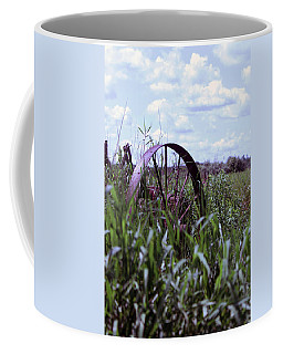 Old Wheel  Coffee Mug by Joann Copeland-Paul