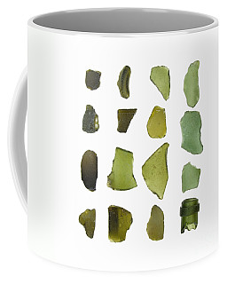 Olive Green Sea Glass Coffee Mug