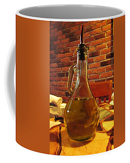 Coffee Mug featuring the photograph Olive Oil On Table by Cynthia Guinn
