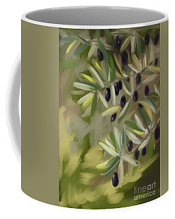 Coffee Mug featuring the painting Olive Tree by Go Van Kampen