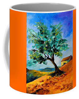 Olive Tree On The Hill Coffee Mug