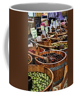 Olives Coffee Mug by Heather Applegate