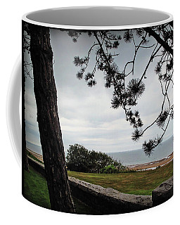 Omaha Beach Under Trees Coffee Mug