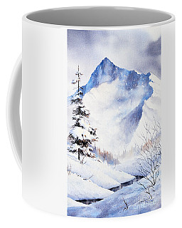 Coffee Mug featuring the painting O'malley Peak by Teresa Ascone