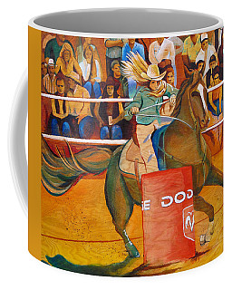 Coffee Mug featuring the painting On A Dime by Joshua Morton