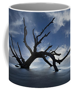 Coffee Mug featuring the photograph On A Misty Morning by Debra and Dave Vanderlaan