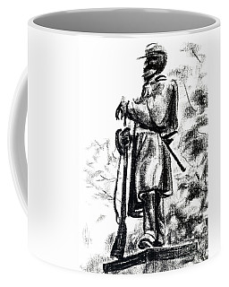 Coffee Mug featuring the drawing On Duty In Brigadoon  No Ch101 by Kip DeVore