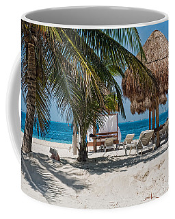 White Sandy Beach In Isla Mujeres Coffee Mug