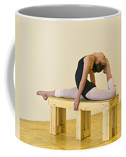Practicing Ballet On The Bench Coffee Mug