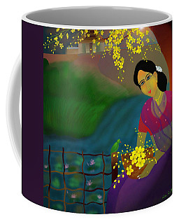 On The Eve Of Golden Shower Festival Coffee Mug by Latha Gokuldas Panicker