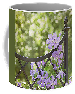 Coffee Mug featuring the photograph On The Fence by Kim Hojnacki