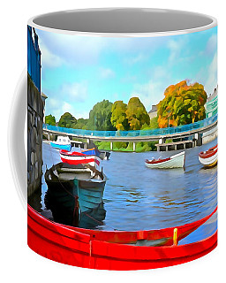 Coffee Mug featuring the photograph On The Garavogue by Charlie and Norma Brock