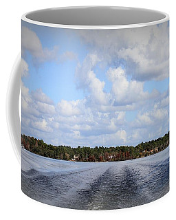 Coffee Mug featuring the photograph On The Lake by Debra Forand