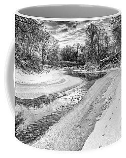 On The Riverbank Bw Coffee Mug