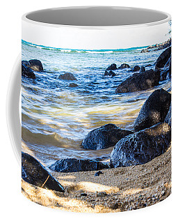 Coffee Mug featuring the photograph On The Rocks by Suzanne Luft