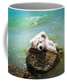 On The Rocks - Teddy Bear Art By William Patrick And Sharon Cummings Coffee Mug