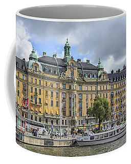 Coffee Mug featuring the photograph On The Waterfront Stockholm Sweden by Marianne Campolongo
