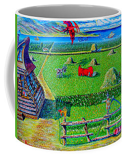 Coffee Mug featuring the painting Once Upon A Time.arts For Kids by Viktor Lazarev