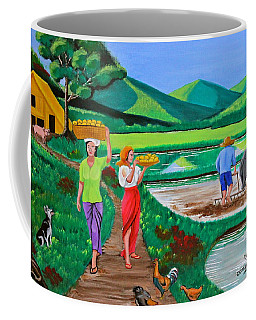 One Beautiful Morning In The Farm Coffee Mug by Cyril Maza