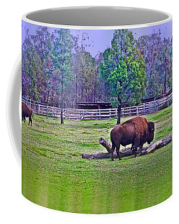 One Bison Family Coffee Mug by Miroslava Jurcik