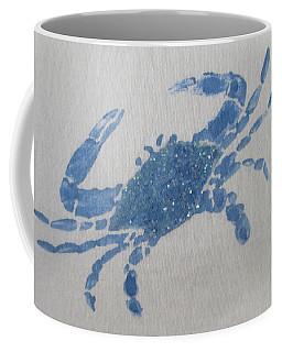 One Blue Crab On Sand Coffee Mug