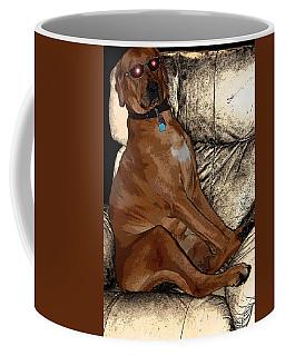 One Cool Dog Coffee Mug by Mim White