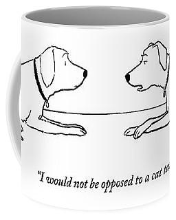 One Dog Says To Another Coffee Mug