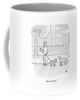 One Dog Talks To Another Coffee Mug by Paul Noth