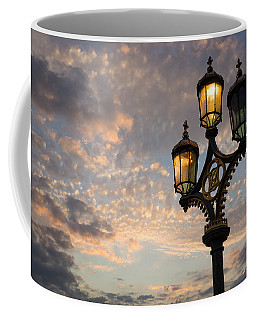 One Light Out - Westminster Bridge Streetlights - River Thames In London Uk Coffee Mug by Georgia Mizuleva