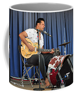 Coffee Mug featuring the photograph One Man Band - Bloodshot Bill by Mike Martin