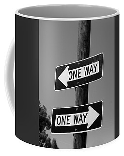 One Way Or Another - Confusing Road Signs Coffee Mug by Jane Eleanor Nicholas