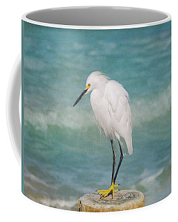 One With Nature - Snowy Egret Coffee Mug