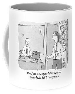 One Worker Enters The Office Of Another Coffee Mug