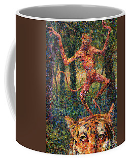 Only A Crazy Monkey Dances On A Tiger's Head Coffee Mug