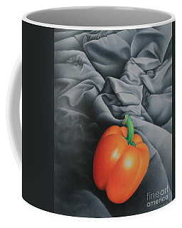 Coffee Mug featuring the painting Only Orange by Pamela Clements