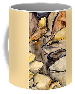 Coffee Mug featuring the painting Only Rocks by Kendall Kessler
