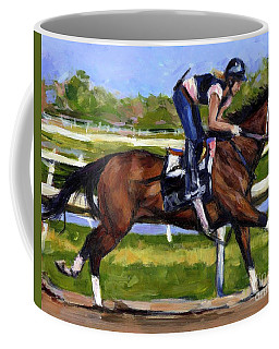 Coffee Mug featuring the painting Onlyforyou by Molly Poole