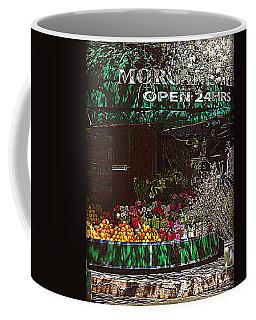 Open 24 Hours Coffee Mug by Miriam Danar
