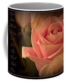 Open Your Heart Coffee Mug by Ernie Echols