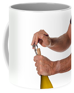 Opening A Bottle Of Wine Coffee Mug