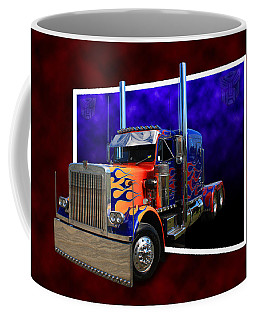 Coffee Mug featuring the photograph Optimus Prime Peterbilt by Keith Hawley