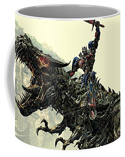 Optimus Prime Riding Grimlock Coffee Mug