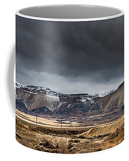Oquirrh Mountains Winter Storm Panorama 2 - Utah Coffee Mug