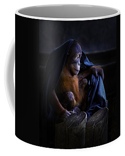 Orang Utan Youngster With Blanket Coffee Mug by Peter v Quenter